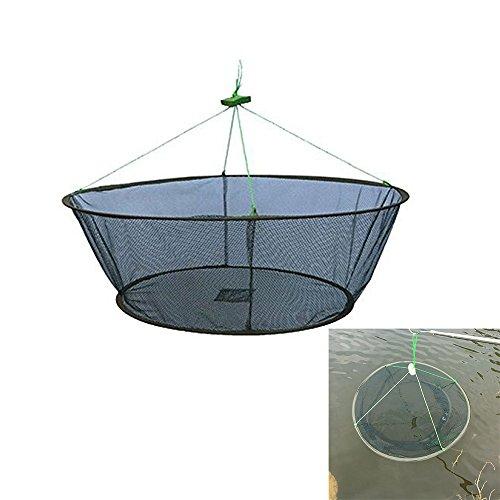 Portable Folded Fishing Net Fish Shrimp Minnow Crayfish Crab Baits Cast Mesh Trap Automatic (Diameter:31.5inch/80cm)