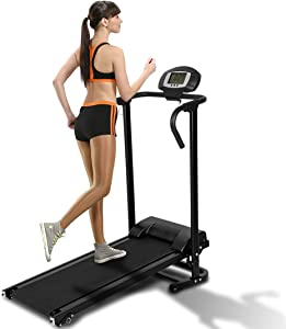 Folding Multifunctional Manual Treadmill Fitness Walking Machine Cardio Exercise Home Gym Incline