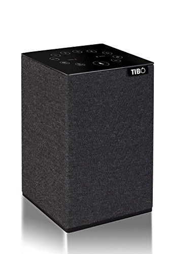 TIBO Choros Tap | WLAN- und Bluetooth-Lautsprecher mit Amazon Alexa | Multiroom Hi-Fi-Lautsprecher mit Internetradio | Grau