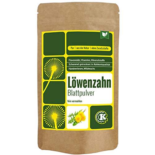 Löwenzahn Pulver (Blattpulver) gemahlen, Wildwuchs - 500g