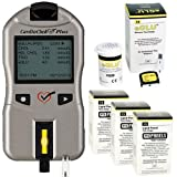 CardioCheck Plus Starter Kit Professional Blood Testing Analyzer Device with 45 Lipid+eGlu Test Strips