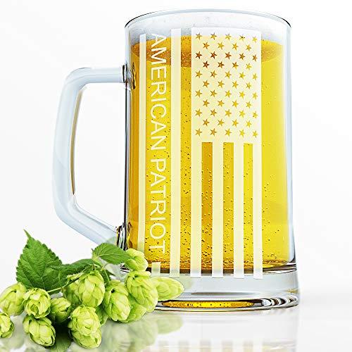 BBrown Original American Flag Beer Mug Beer Glass Great As A Beer Gift Glossy Glass