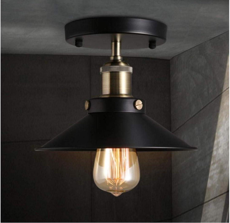 Schwarze 1-Licht-Runde Kunst Deckenleuchte Gang Flur Wohnzimmer