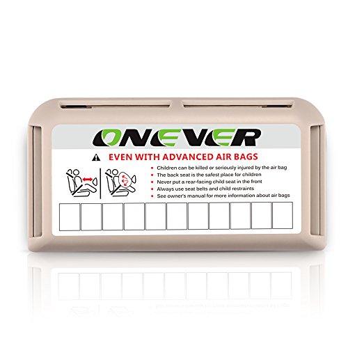 ONEVER Auto Zonneklep Kaarthouder - Auto Kaarthouder met Tijdelijke Parkeerplaats, Parkeerkaart Opslag Organisator Auto Accessoires 1 pack