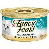 Fancy Feast Wet Cat Food, Classic, Seafood Feast, 3-Ounce Can, Pack of 24