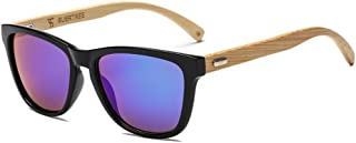 SUERTREE Fashion Bamboo Sunglasses Women Man Vintage Wood Sun Glasses Retro Wooden Shades JH8002