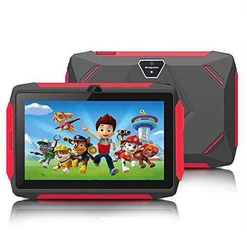 JKLL 7 Zoll Kindertablet, Quad Core Android, 1 GB RAM + 16 GB ROM, WiFi, Bluetooth, Dual Camera, Schulung, Spiele, Kindersicherung, Kindersoftware vorinstalliert mit Kindertablet-Hülle (schwarz)