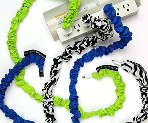 Crazy Cord Covers, Cell Phone Cord/Tablet Identifier, Cell Phone Cord Cover, Charger Cover, Gift Item, Cord Organizer, New Popular Item