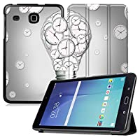 MAITTAO Samsung Galaxy Tab E 8.0 Case 2016 Release, Slim-Shell Leather Folio Stand Case Cover For Samsung Galaxy Tab E 32GB SM-T378 / Tab E 8.0-Inch Tablet (SM-T375 / SM-T377), Creative Bulb 12