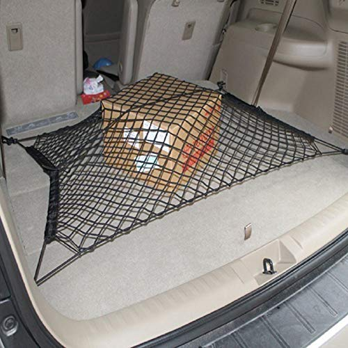 Tonyzhou Co.,ltd Universal Car Seat Back Storage Mesh Net Bag 90cm*65CM Car Styling Luggage Holder Pocket Sticker Trunk Organizer