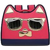 ペットキャリアバックパック漫画の形のペットバッグ猫と犬の旅行メッセンジャーショルダーバッグペットバックパックペット用品旅行ハイキング(カラー:レッド、サイズ:40x30x20cm) (Color : Red, Size : 40x30x20cm)