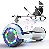 HITWAY Overboard Hover Scooter Board Gyropode, électrique Hoverboard Auto-Equilibré Scooter 6,5 Pouces, Self-Balance Board avec Roues LED et Hoverkart Accesoires pour Gyropode Cadeau pour Enfants