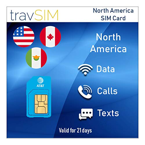 travSIM USA SIM-Karte (AT&T SIM Karte) für 21 Tage gültig - Unbegrenzte* 3G 4G LTE-Mobile Daten - Vereinigte Staaten AT&T US SIM-Karte (funktioniert auch in Kanada und Mexiko)