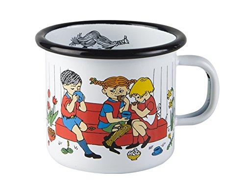 Muurla - Emaillebecher - Henkelbecher - Kaffeebecher - Motiv: Pippi Langstrumpf - robust 250 ml