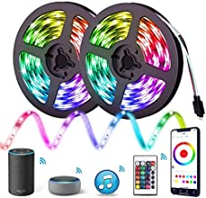 Aptech 10m LED Strip Lights, Smart WiFi RGB LED Lights with APP Remote Control, SMD 5050 LED Color Changing Rope Light, IP...