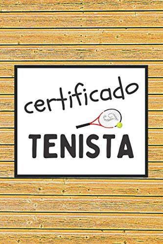 CERTIFICADO TENISTA: CUADERNO DE NOTAS. LIBRETA DE APUNTES, DIARIO PERSONAL O AGENDA...