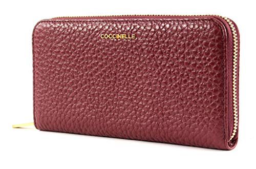 Coccinelle Metallic Bubble Zip Around Wallet L Grape