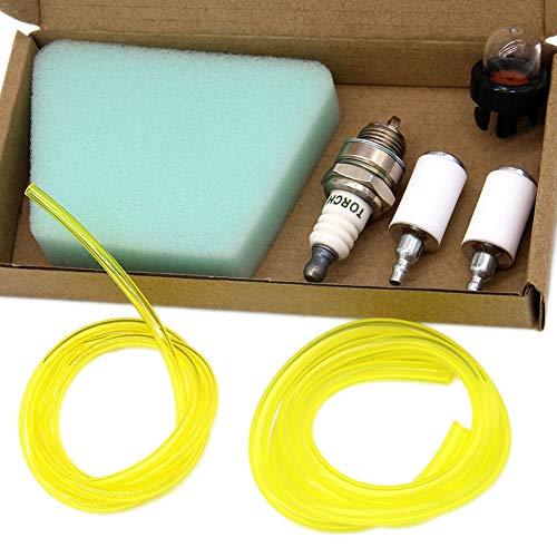 SWNKDG Universal Benzinfilter kit Benzinschlauch Luftfilter Primer Kraftstoffschlauch (2,5 x 5mm 2 x 3,5mm) für Freischneider Trimmer Mower Motorsense Rasentrimmer Benzin-Kettensäge Motorsäge
