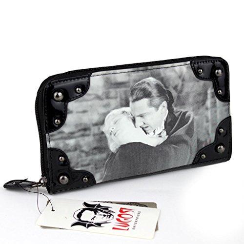 Drácula gótico de la Mujer Cartera–Good Night Kiss Vintage Patentes XL Bolso de Mano con Tachuelas