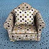 1:12 Mini sofá muebles de casa de muñecas, muebles de casa de muñecas muebles de casa de muñecas en miniatura accesorios de casa de muñecas y muebles para casa de(9*8*6cm-White flower dots)