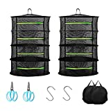 Herb Drying Rack 2 Pack,4 Layer 23.5in/60cm Collapsible Breathable Mesh with Gardening Sci...