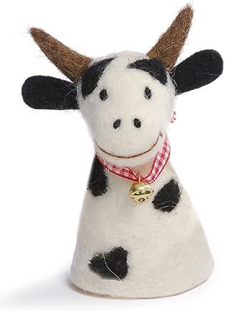 Preisvergleich für Baden Dekorativer Niedlicher Eierwärmer Kuh gefleckt mit Glöckchen aus Filz (1)