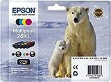 EPSON C13T26364010 - Cartuchos de tinta (26XL, 4 unidades, 12,2/9,7 ml, 500 páginas en blanco y negro, 700 páginas en blanco y color)