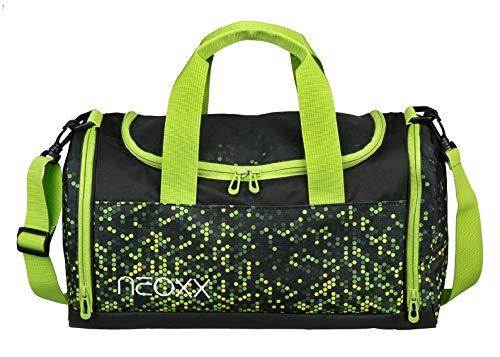 neoxx Champ Sporttasche Pixel in My Mind - Tasche aus recycelten PET-Flaschen, Trainingstasche für Mädchen und Jungen, Reisetasche für Sport und Schule