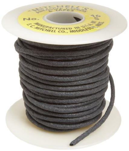 Mitchell Abrasives - 46S-25 46-S Round Abrasive Cord, Silicon Carbide 120 Grit .15' Diameter x 25 Feet