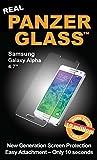 PanzerGlass Bildschirmschutzglas (Anti-Fingerprint); passend für Samsung Galaxy Alpha (4,7 Zoll), Klar