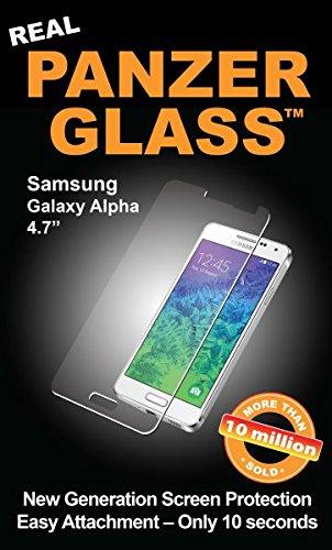 PanzerGlass Displayschutzglas (Anti-Fingerprint); passend für Samsung Galaxy Alpha (4,7 Zoll), Klar