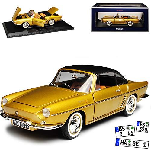 Renault Floride Caravelle Cabrio Bahamas Golf Gelb Metallic 1959-1968 1/18 Norev Modell Auto mit individiuellem Wunschkennzeichen