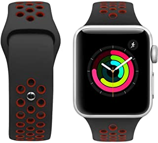 Porodo Nike Watch Band for Apple Watch 44mm / 42mm compatible with Series 4, Series 5 - Black/Red