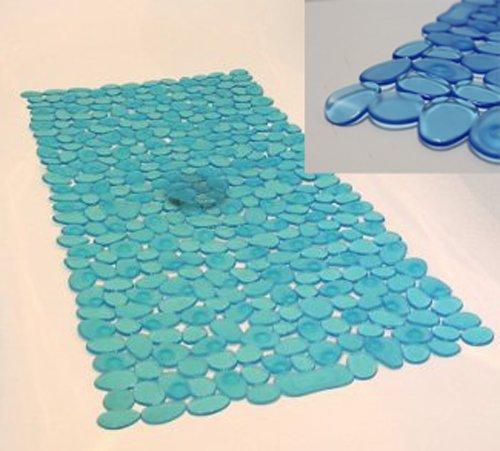 Anti Rutschmatte Wanneneinlage, Anti Rutsch Bade Wanne Dusche Boden Matte blau