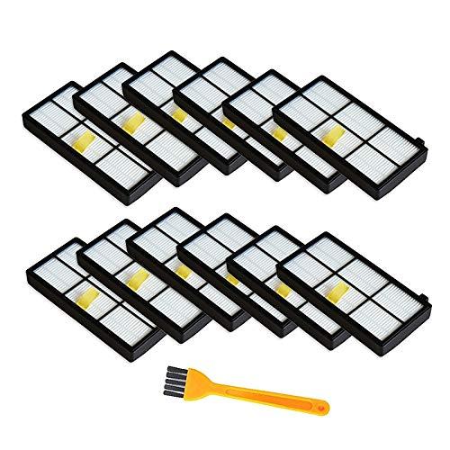 PUHE Partes de repuesto de aspirador filtro cepillo de limpieza ajuste para irobot fit para Roomba 800,860,865,880,885,886,890,900 960 Aspirador accesorios