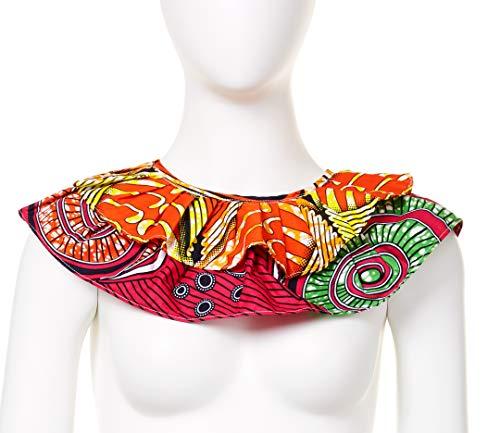 Afrikanische Stoff-Halskette, handgefertigt, Dashiki, Kente, Ankara, afrikanischer Druck, Bandana, Stoff, Latzkragen, Halskette, Halsschmuck (Farbe D)