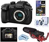 Panasonic LUMIX GH5 4K Mirrorless Digital Camera, 20.3 Megapixel, DC-GH5 (Black), Bundle with Panasonic V-Log L Function Firmware Upgrade Kit, Rode VideoMic, LCD Protector, Cleaning Kit + Cloth