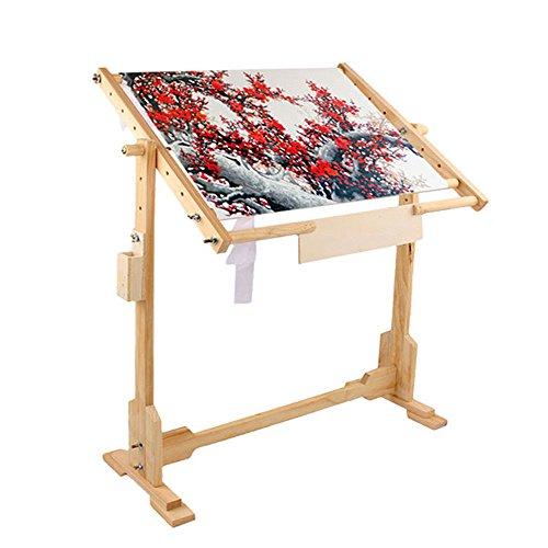 EBTOOLS Vloerframe, houder voor borduurframe, kruissteek, geschikt voor borduurwerk, quilten, kruissteek, borduurwerk…