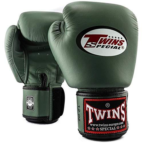Twins Special Boxhandschuhe, Leder BGVL-3, Military Größe 16 Oz