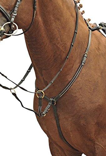 Hkm 557946Pretal con martingala, herrajes Color Oro, m, Color marrón