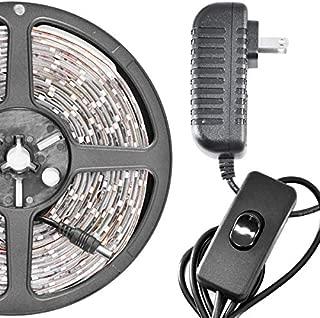 Biltek LK-SC-5M White On/Off Switch Control Kit (16.4' Feet Cool 300 LEDs Light Smd3528 110V Plug)