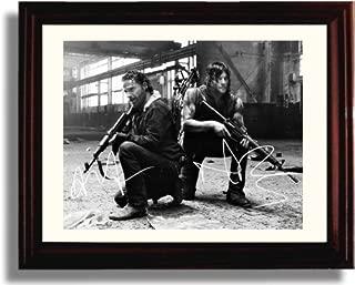 Framed Walking Dead Autograph Replica Print - Walking Dead Cast