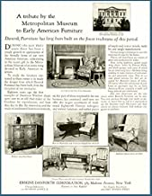 1925 DANERSK Furniture AD with A Tribute to MET. Museum Original Paper Ephemera Authentic Vintage Print Magazine Ad/Article