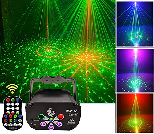 Discolicht Partylicht, Party Deko Discokugel, Mini-Partylicht mit 2M / 6,5ft USB-Stromkabel, Stroboskop mit Fernbedienung für Kindergeburtstag, Familientreffen, Weihnachtsfeier, Halloween