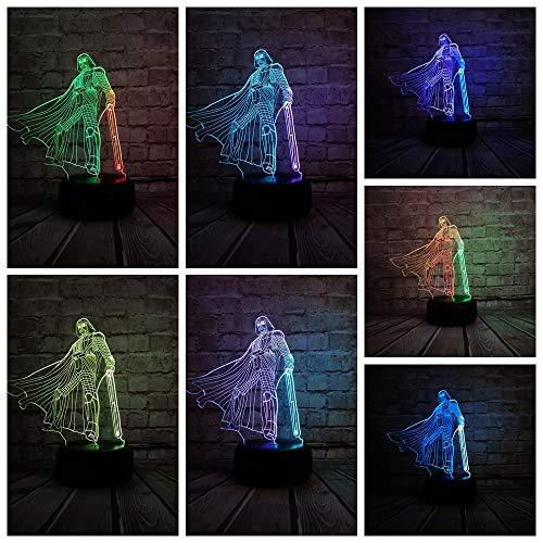 3D Night Light Color mezclado LED Light Game Character Boy Dormitorio Niños Regalo Gradient Toy