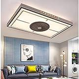 Dxyap Ventiladores De Techo Con Iluminación LED Y Control Remoto, Lámpara De Techo Para Sala De Estar En Estilo Chino, 96 W, Atenuación Tricolor, Ventilador De 3 Velocidades, 95 * 65Cm
