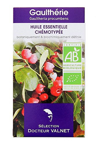 Docteur valnet - Huile essentielle gaultherie bio - 10 ml huile essentielle gaultheria fragrantissima