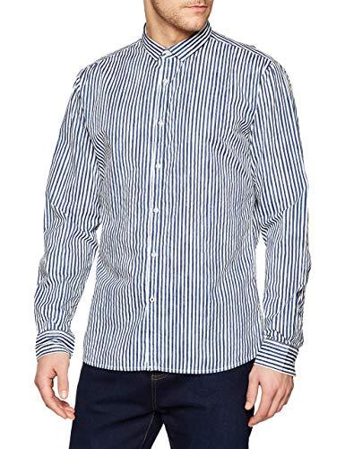 CINQUE Herren CISHARP Freizeithemd, Blau (Dunkel Blau 68), Large (Herstellergröße: L)