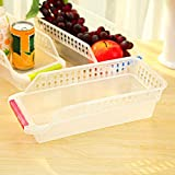 Congelador Refrigerador Organizador Bandejas Bandejas Despensa Gabinete Caja de almacenamiento Nevera Frutas Verduras Contenedores Cestas de almacenamiento(Color:Random Color)