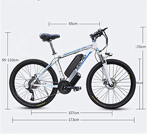 "51kjUSEpoZL - Elektro-Off-Road-Mountainbike, 350W Motor 26"" Adult Electric Mountain Bike 48Av10ah 350W Motor Höchstgeschwindigkeit 35km / H"